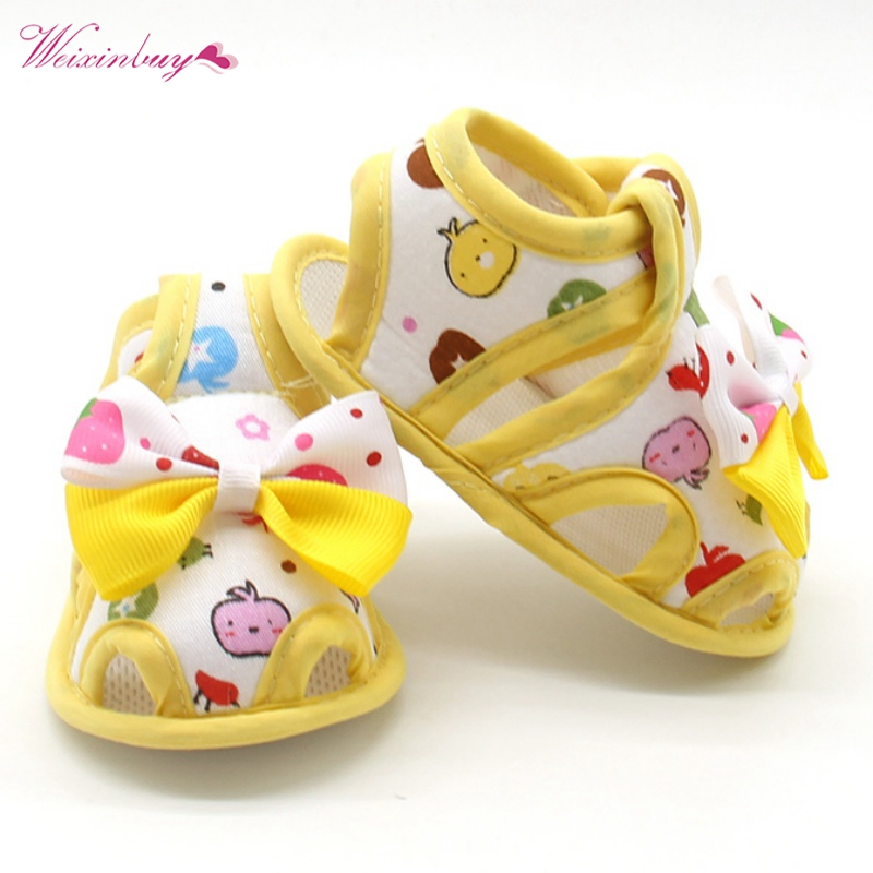 Baby Shoes Sandals Flower Print For Girls Autumn Cotton Princess Baby Toddler Children Soft Soft Sole Fabric Shoes