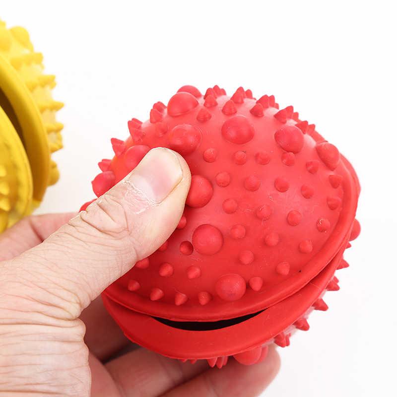 Pelota de caucho para mascotas pelota de puzle interactiva Bola de goteo de alimentos juguete para perros mascar juguete para la Limpieza de dientes divertido durabilidad juguete para masticar molares
