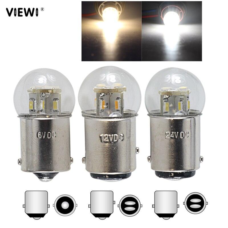 Светодиодный светильник BA15S 1156 BAY15D 1157 BA15D 1142 canbus P21W PY21W Автомобильный задний стоп-сигнал, лампа s 6V 12V 24V 36V 48V DYL, автоматическая сигнальная ламп...