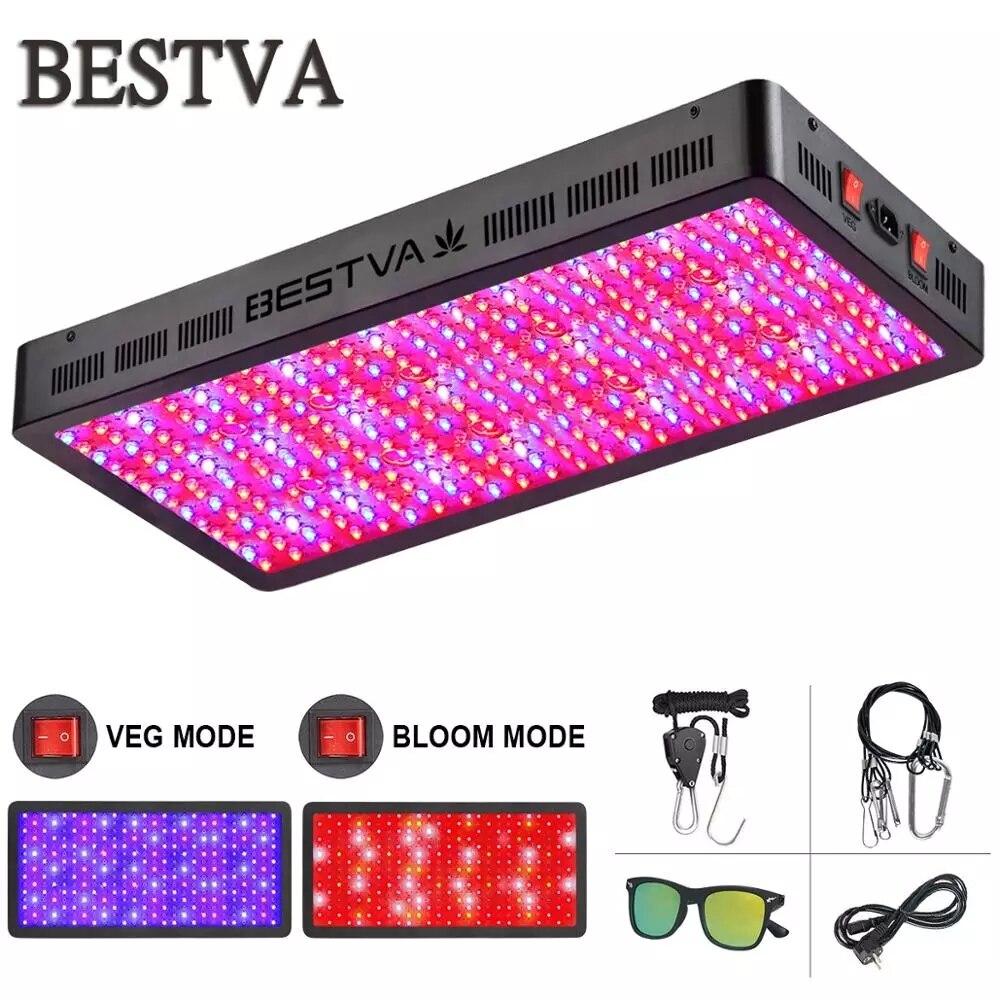 Oświetlenie LED do uprawy BestVA Full Spectrum 600W/1000W/1200W/1500W/2000W/3000W/4000W Phytolamp dla rośliny doniczkowe nasiona kwiatów rosną namiot