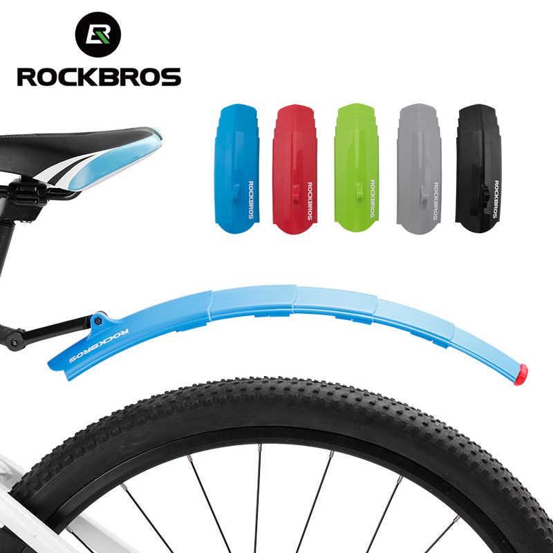 RockBros Bicycle Fenders Telescopic Folding MTB Bike Free Mudguard Taillight HP