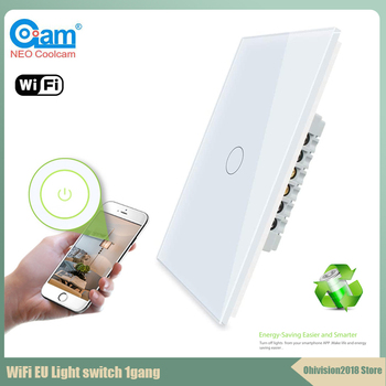 Coolcam Z-wave Plus US Touch Smart Switch 1 Gang Smart Light Switch Panel US 908.4MHZ For Alexa Google Home Tuyasmart Smart Life chint lighting switches 118 type switch panel new5d steel frame four position six gang two way switch panel