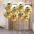 Розовое золото 18 21 30 40 50 60 лет на день рождения латексные конфетти воздушные шары свадьба годовщина взрослые украшения для дня рождения