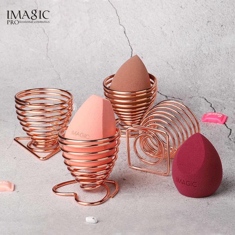IMAGIC Nóng Vẻ Đẹp Trang Điểm Xốp Bầu Bông Đánh Phấn Giá Trứng Bông Đánh Phấn Giá Đỡ Hộp Máy Sấy Người Tổ Chức Làm Đẹp Kệ Đựng Dụng Cụ