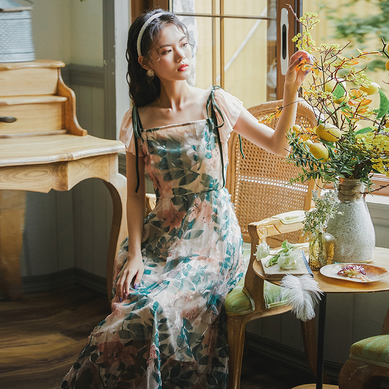 Dress Vintage Women's Clothes 2021 Summer New French