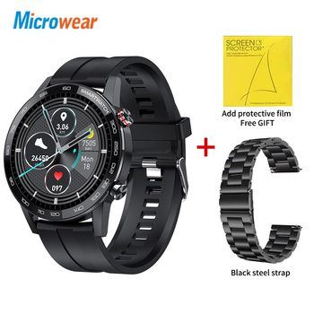 Microwear L16 Smart Watch Men Sports Fitness Tracker IP68 Waterproof Heart Rate Monitor Android IOS Full Touch Screen Smartwatch 24