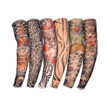 1pc Tattoo Sleeve UV Protection Outdoor Temporary Fake Running Arm Sleeve Skin Protective Nylon Apparel Accessories Arm Warmer 1pc nylon tatoo arm stockings arm warmer cover elastic fake temporary tattoo sleeves for men women new arrival