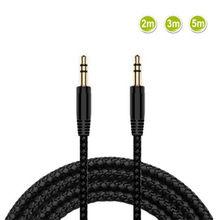 2/3/5m náilon trança cabo de extensão fone de ouvido 3.5mm macho para macho aux cabo m/m áudio estéreo cabo extensor fone de ouvido