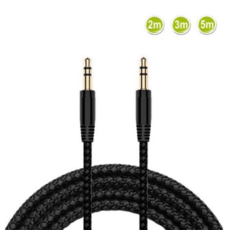Бесплатная доставка, шорты для девочек 2, 3, 5m нейлоновый плетеный кабель для наушников кабель-удлинитель для 3,5 мм кабель со штыревыми соедин...