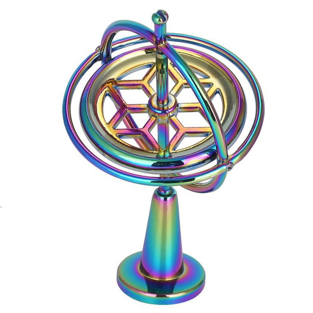 Colorful Fingertip Gyroscope Decompression Finger Gyroscope Toy For Children Gift Scientific Metal Gyro Pressure Relieve Toy