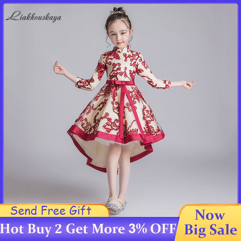 Flower Girl Princess Dress Kids Lace Party Formal Wedding Birthday Prom Dresses