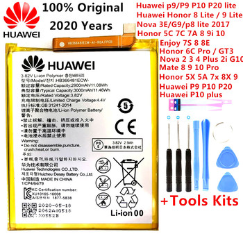Orginal Huawei Ascend P9 P10 P20 Lite Honor 5C 5A 5X 6A 7X G7 8 8X 8C G9 9 9i 10 G10 Mate 8 9 10 Nova 2 2i 3 4 Plus Pro Battery