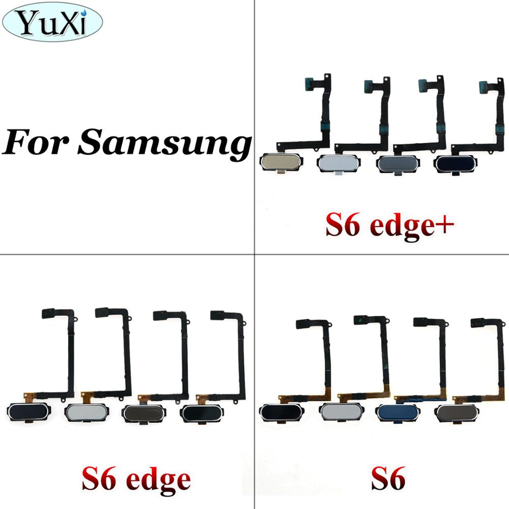 YuXi For Samsung S6 S6edge Plus Home Return Key Menu Button Fingerprint Sensor Flex Cable For Galaxy S6edge +