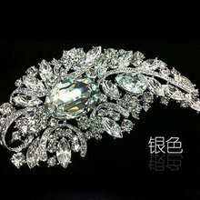 Elegance Rhinestone Large Brooches for Women Crystal Flower Brooch Pin Jewelry Accessories