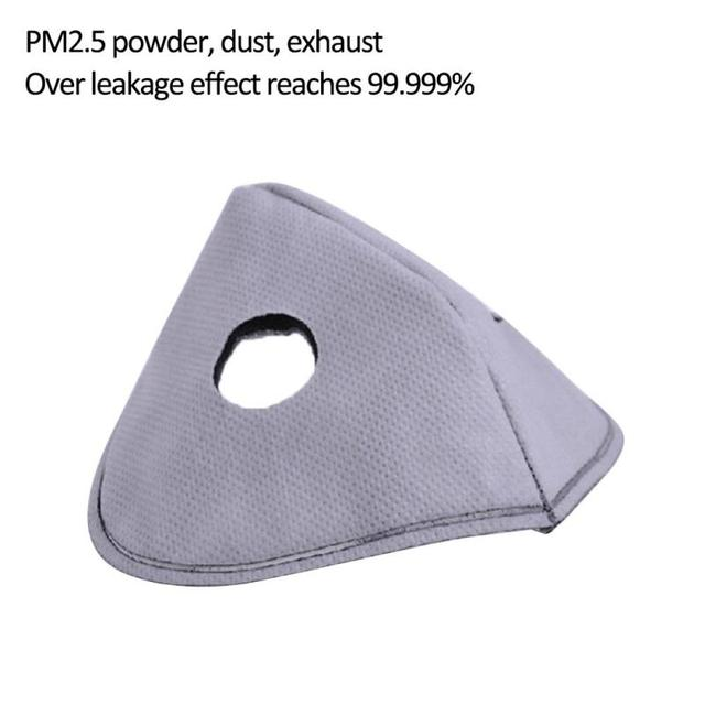 Cycling Mask PM 2.5 Anti-smog Mask Liner Removable Mask Lining Activated Carbon Mask Accessory Filter Breath Filter Replace Flu 3