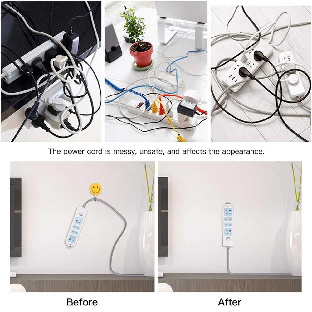 Wysokiej jakości listwy zasilające przewody utrwalające rozmieść urządzenie domowe pilot router wi-fi pudełko na chusteczki ścienne uchwyt samoprzylepny