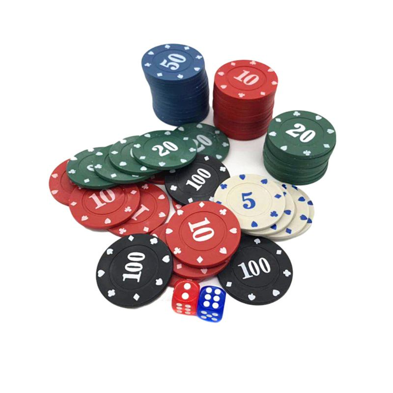 100pcs Round Plastic Chips Casino Poker Card Game Baccarat Counting Accessories-3