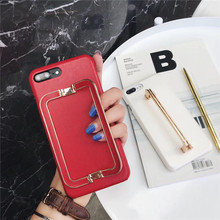 IPhoneXSMax Big Leather Wristband 6s Apple Mobile Phone Case 7/8 Iron Buckle Bracket