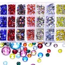 Crystal Glass Strass-Glue Rhinestone Hot-Fix Mix 6-Sizes 32-Colors Better DIY Dmc-F0214