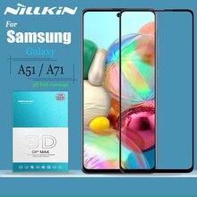 Nillkin Protector de pantalla de vidrio templado para Samsung Galaxy A51, A71, 9H, 3D, cobertura completa, seguridad, A51, A71