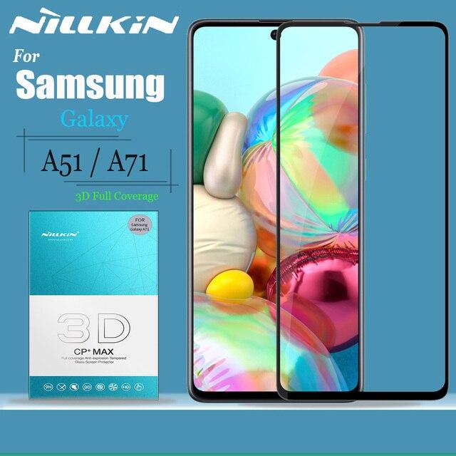 Nillkin vidro para samsung galaxy a51 a71 protetor de tela de vidro 9 h 3d cobertura completa segurança vidro temperado para samsung a51 a71