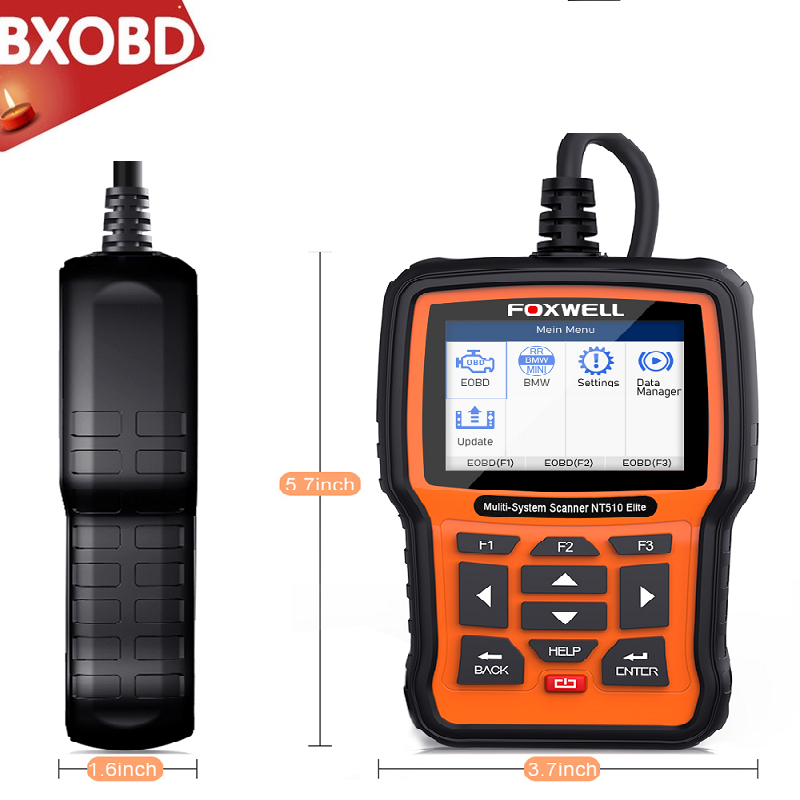 FOXWELL NT510 for GM Automotive Code Reader ABS Airbag SAS Reset Diagnostic Tool
