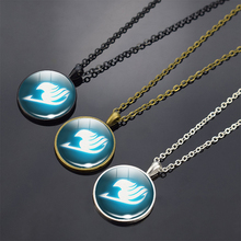 Silver / bronze / black long necklace Fairy Tail Fate Stay Night Anime Game glass dome Necklace Saber Archer Assassin rider цена и фото