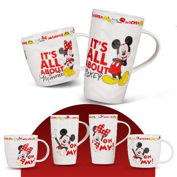 375ml 260ml Disney Mickey Minnie Mouse kubek ceramiczny kawa z mlekiem kubek do wody Home Office Collection Cup kobiety dziewczyna upominki świąteczne tanie i dobre opinie 260ml375ml Drinkware Dzieci Cartoon