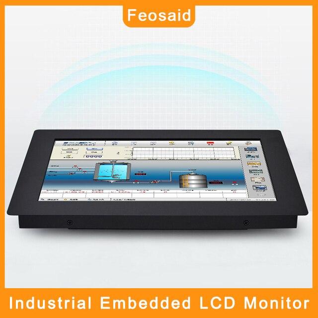 Feosaid-moniteur intégré de lindustrie 19/21.5 pouces, écran de contrôle pour tablette 19/23.6 pouces, entrée VGA