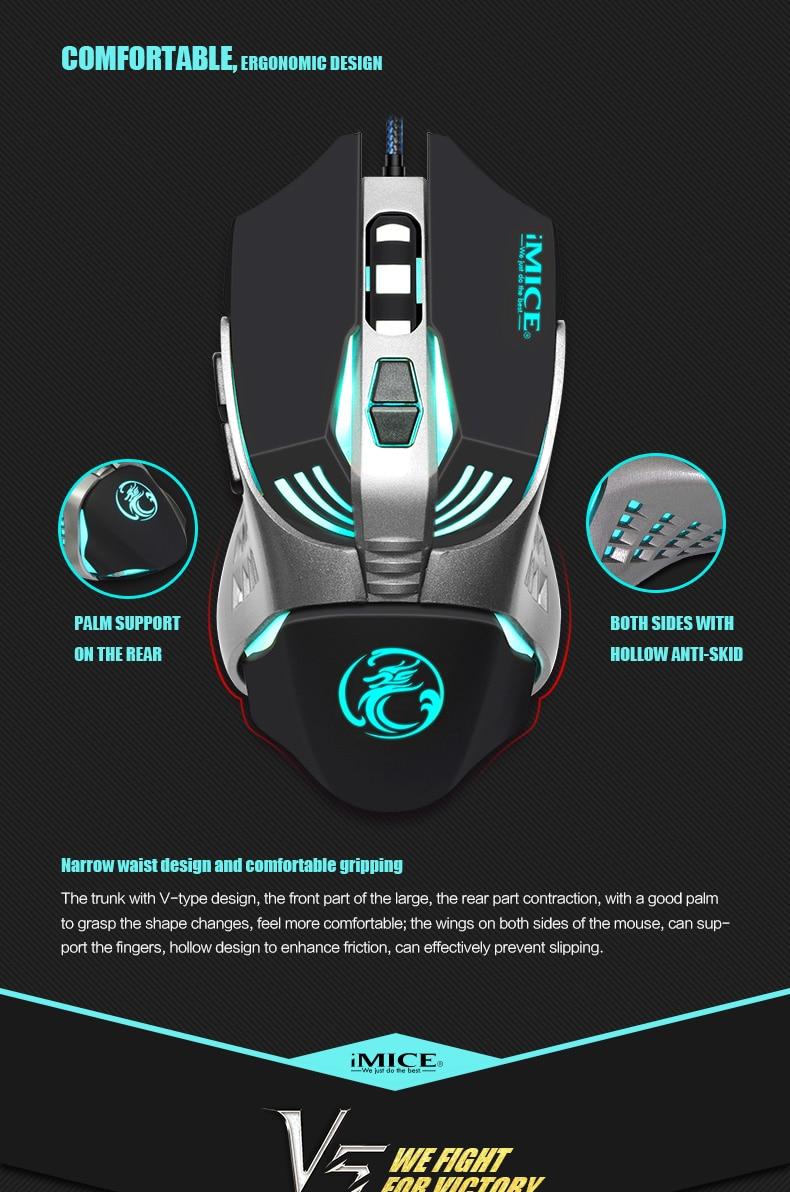 rato de computador 3200cpi 7 botões do