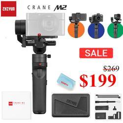 Zhiyun Crane M2 3 Axis Handheld stabilizator gimbal do aparatów bez lustrzanych smartfonów Gopro stabilizator's postawy polityczne w G6 Plus DJI Ronin S Max w Ręczne gimbale od Elektronika użytkowa na