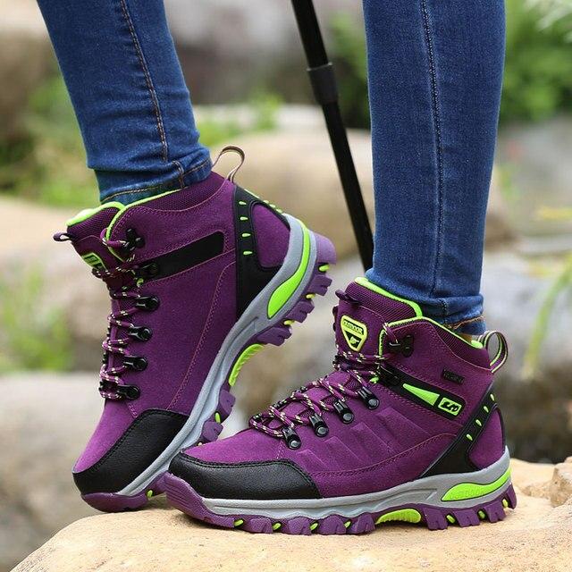 Phụ Nữ Núi Giày Chống Nước Thể Thao Ngoài Trời Giày Leo Núi Nam Đi Đào Tạo Giày Bọc Chống Trượt Mặc Săn Bắn Giày
