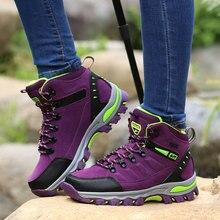 Zapatos de montaña impermeables para hombre y mujer, calzado de escalada para deportes al aire libre, calzado de entrenamiento para caminar, botas de caza antideslizantes