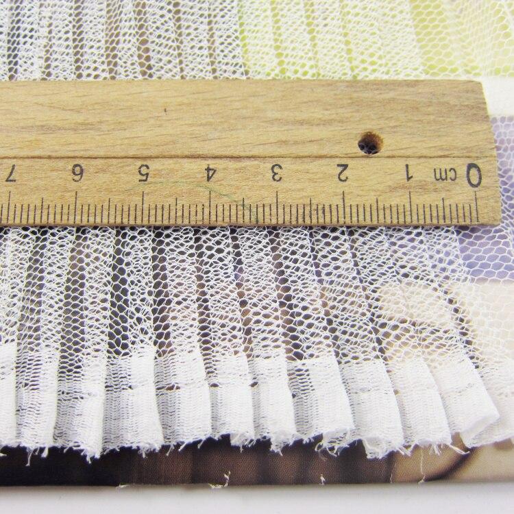 10 metros Transparente Branco Puro Tecido de