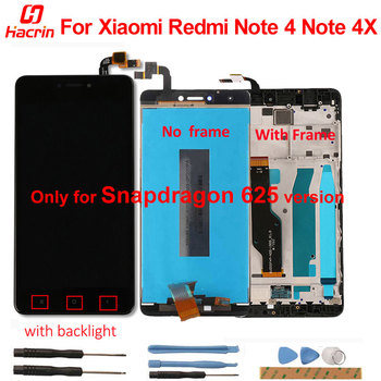 LCD Display For Xiaomi Redmi Note 4 4X LCD Screen+Touch Screen with frame for Redmi Note 4X 5.5'' Snapdragon 625 Version Screen