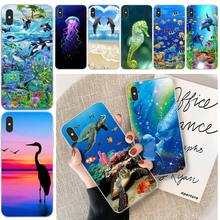 цена на Lovely Sea Animals Soft Silicone TPU Phone Cover For iphone 6 6s plus 7 8 plus X XS XR XS MAX 11 11 pro 11 Pro Max Cover
