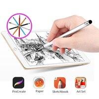 Metall Stylus Stift Für Telefon Dual Touch Stecker Android Tablet Handy Stylus Smartphone Zeichnung Universal Smart Pen Handy-Stift    -