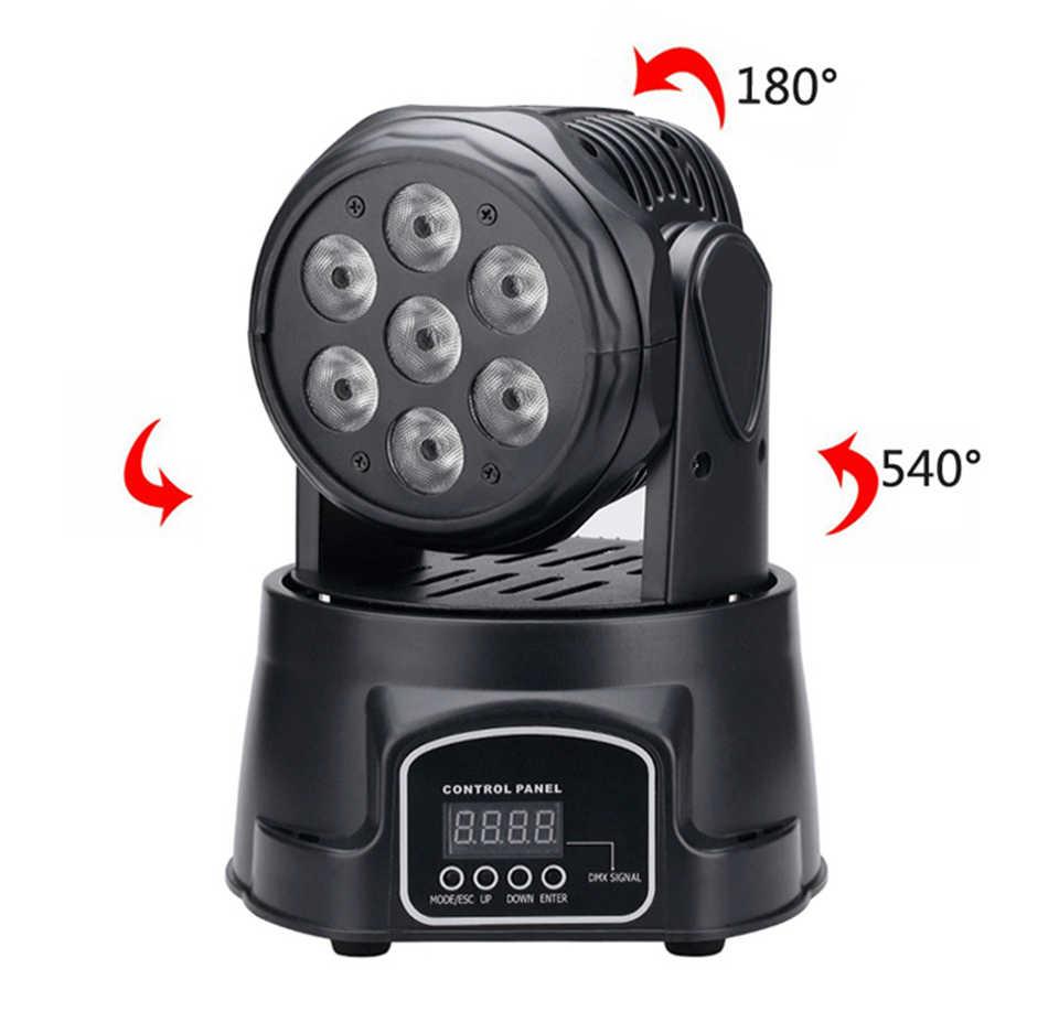 RGBW LED ضوء المرحلة 70 واط تتحرك رئيس شعاع كشاف إضاءة للحفلات DMX-512 Led Dj عيد الميلاد عيد الميلاد الصوت نشط DMX ديسكو ضوء
