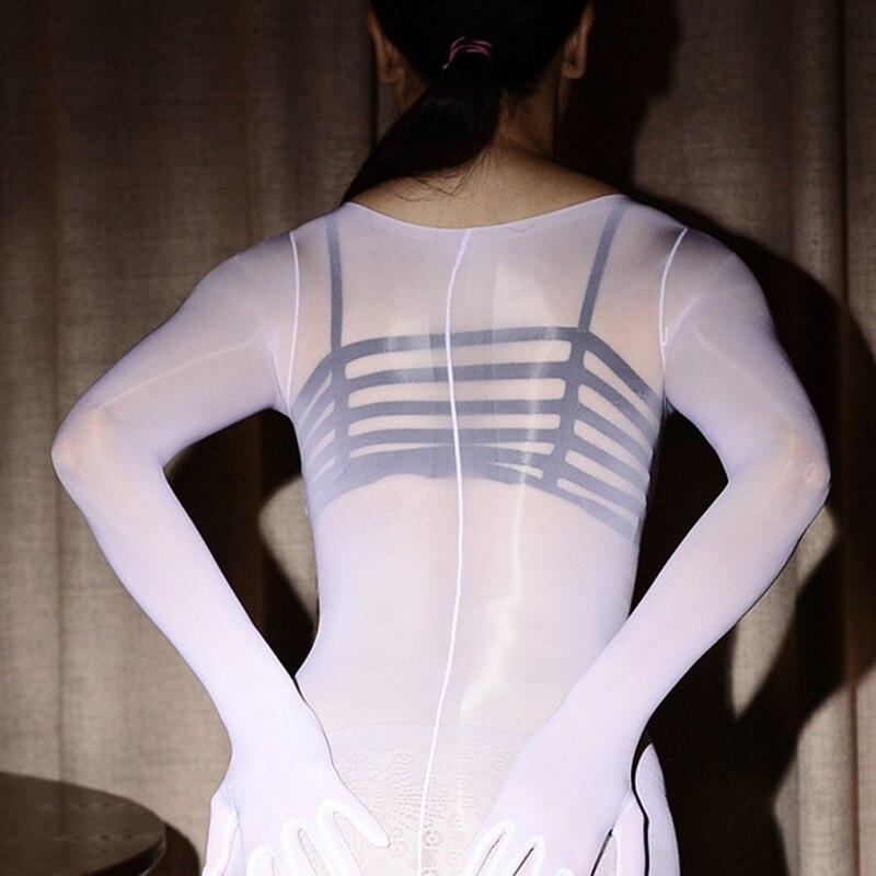 Image 2 - Ультра тонкое женское пикантное белье из ткани типа органди, боди, блестящие колготки, сексуальные, с открытой промежностью, плотные, высокоэластичные, бодиЖенское белье и боди    АлиЭкспресс