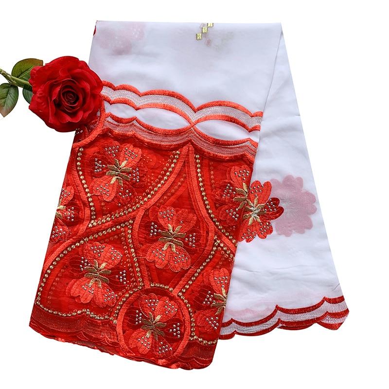 High Quality Chiffon Scarf New African Women Hijab Scarf, Embroidery Chiffon Shawl  Big Size Scarf For Shawls EC986