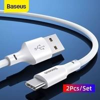 Baseus-Cable USB tipo C 5A, Cable de datos de carga rápida para Huawei, Cargador USB C para Samsung S20 S10