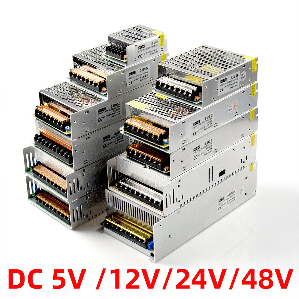 Led Power Supply12v <font><b>24v</b></font> 48v 5v <font><b>1a</b></font> 2a 3a 5a 10a 15a 20a Switching Power Supply Lighting Transformer <font><b>Adapter</b></font> Power Source image