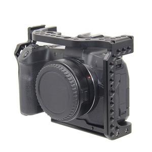 Image 4 - Schutzhülle Kamera Käfig für Canon EOS R w/ Coldshoe 3/8 1/4 Gewinde Löcher Arca Swiss Schnell Release Platte kamera Zubehör