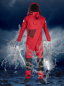 Zip-Dry-Suit Waterproof Front Men with Detachable Hood Paddling Kayak for Expedition