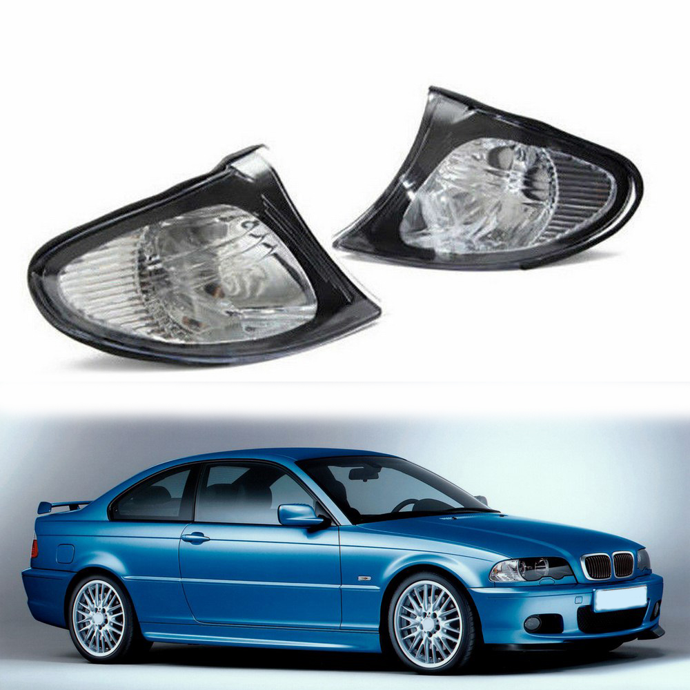 2pcs Car Turn Signal Lamp Indicators LED Brake <font><b>Bulb</b></font> <font><b>Daytime</b></font> <font><b>Running</b></font> <font><b>Light</b></font> Signal <font><b>Bulb</b></font> For <font><b>BMW</b></font> 3 Series E46 4DR02-05 Super Bright image