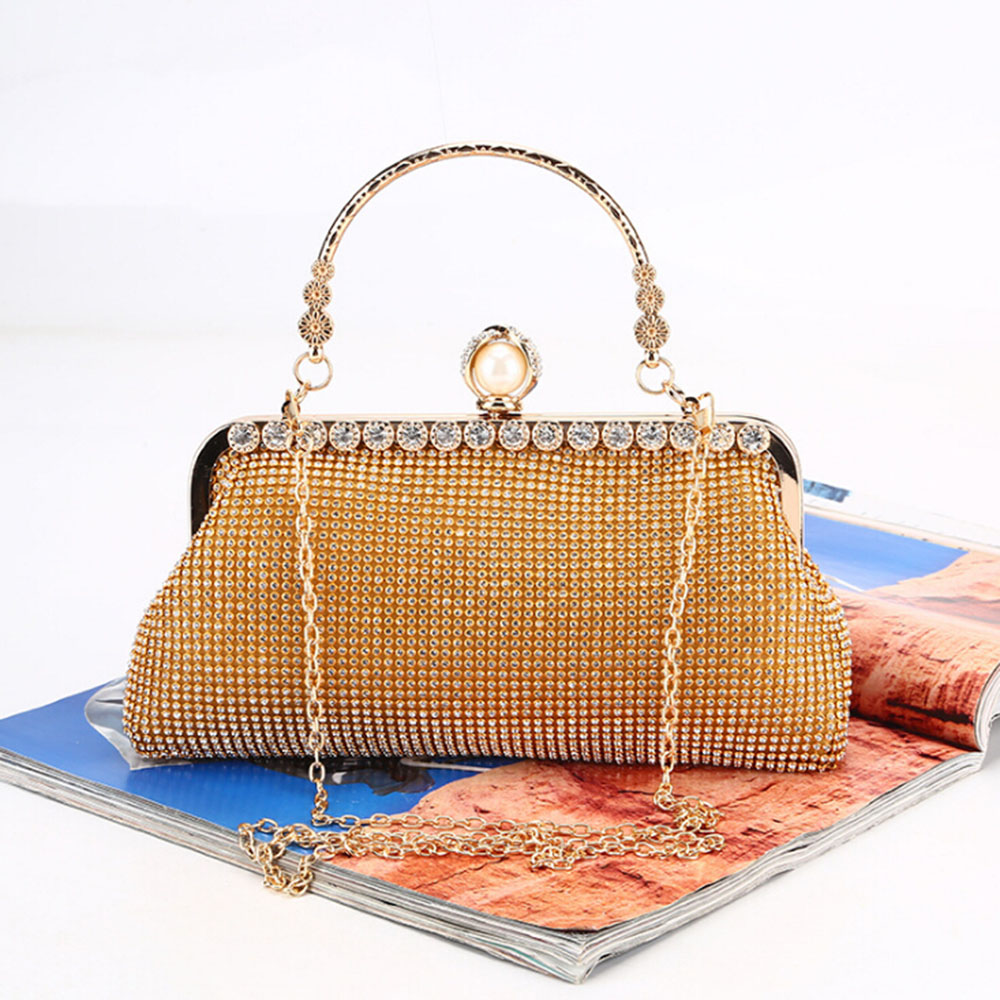 Women Bags 2020 Clutch Bag Diamond Evening Bags Day Clutches Wedding Purse Chain Shouler Bag Gold Black Siver Female Handbag