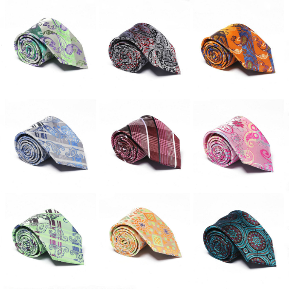 EASY.H New Ties For Man Wedding Gift Brand Luxury Necktie 8 CM 100% Silk Tie Mens Classic Formal Dress Paisley Gird Partern