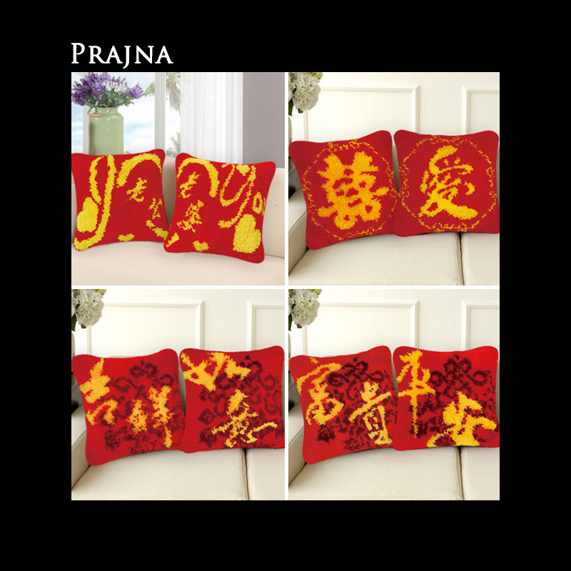 Prajna Knoopkussen Dieren Latch Hook Cushion Pillow Embroidery Foamiran For Needlework Diy Kussen Knooppakket
