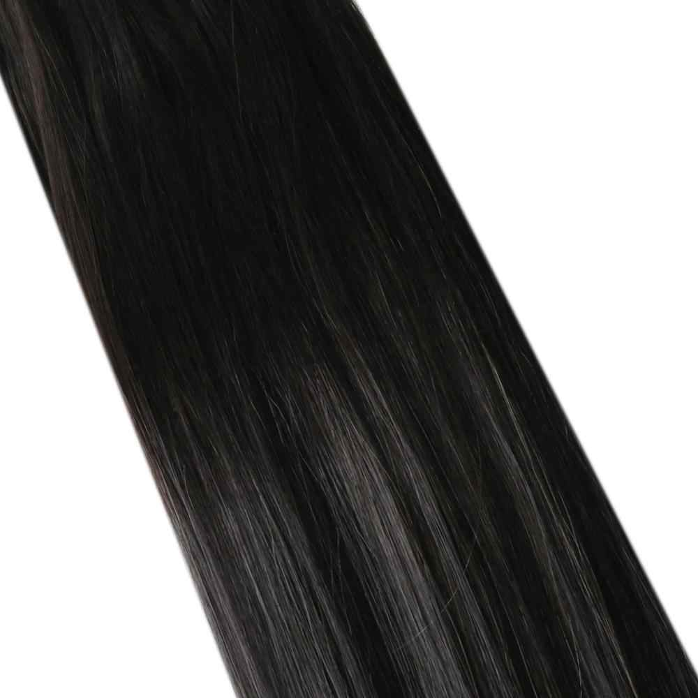 Micro Loop Human Hair Extensions Balayage Ombre Machine Remy Hair 14-24inch 50g/100g Micro Ring Hair Extensions