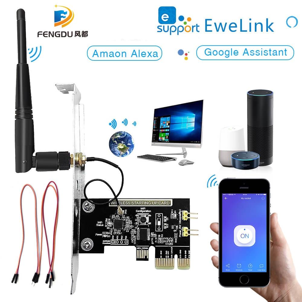 Пульт дистанционного управления eWeLink Mini PCI-e для настольного ПК с поддержкой Wi-Fi